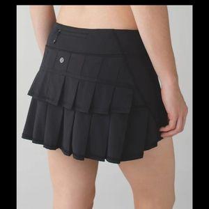 Lululemon Run Pace Setter Skirt Black Size 10